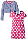 Gerber Toddler Girls Two-Piece Cardigan and Dress Set, Dots, 4T Size: 4T SpecialSizeType: Toddler Girls Color: Dots, Model: 89576216AGR404T, Newborn & Baby Supply
