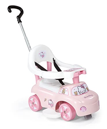 Smoby - 445007 - Vélo et Véhicule pour Enfant - Hello kitty - Porteur Auto Balade