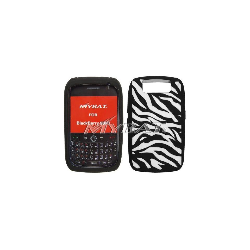 Blackberry 8900 Laser Zebra Skin (White/Black) Skin Case
