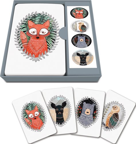 studio-oh-notecard-set-woodland-creatures-box-of-12