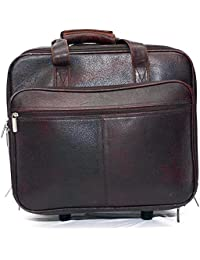 Hide Kin - Columbae The Perfect Companion Brown Color Leather Luggage Bag.