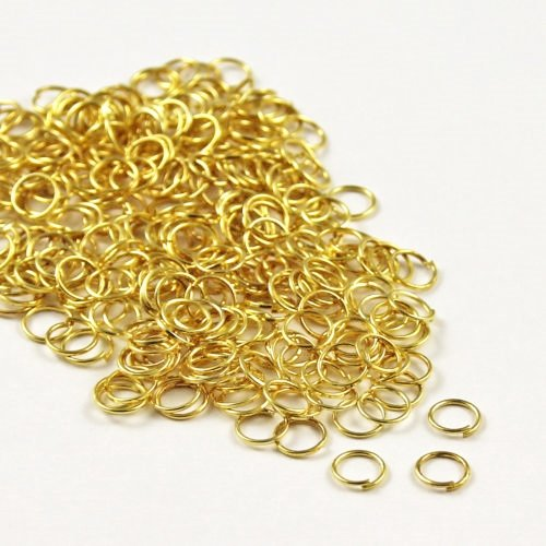 angel-malone-200-x-6mm-gold-plated-superior-strong-metal-jump-rings-08mm-thick-lead-free-nickel-free