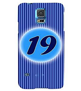 Fuson 3D Printed Numerology Designer back case cover for Samsung Galaxy S5 Neo - D4239