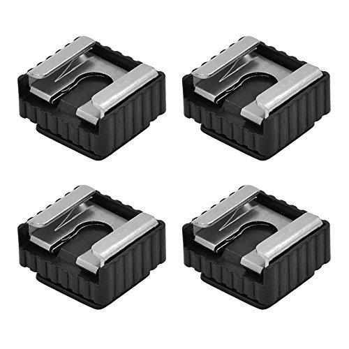 """4X MENGS® SC-6 métallique standard griffe avec 1/4 """"soutien vis 580EXII / 580EX / 430EXII / etc 430EX flash"""