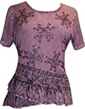Agan Traders Women's Gypsy Medieval Renaissance Vintage Cross Blouse