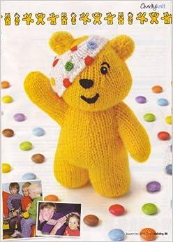Pudsey Bear by Alan Dart Toy Knitting Pattern: Measurements 6.5