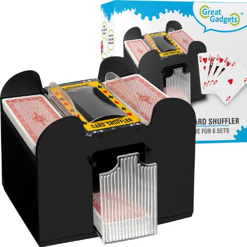 GreatGadgets 2128 Kartenmischmaschine für 6 Decks 4250359721286