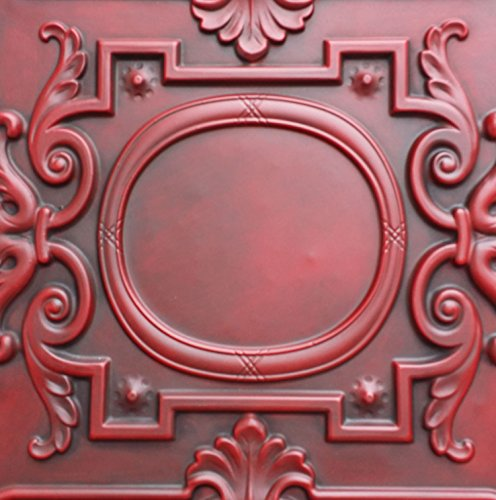 PL15 en peint Old Antique plafond Carreaux Rouge Antique en relief Cafe Pub Shop Art Décoration murale panneaux 10pieces/Lot