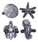 Sanibel Sea Turtle Seahorse Starfish Napkin Rings Set