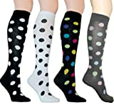 Polka Dot Knee High Socks in Your Choice of Color by Foot Traffic