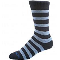KENTWOOL 19th Hole Collection Socks, Navy/Lt. Blue Stripe, X-Large
