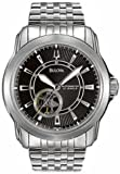 Bulova Men's 96A106 Automatic Mechanical Bracelet Black Dial Watch