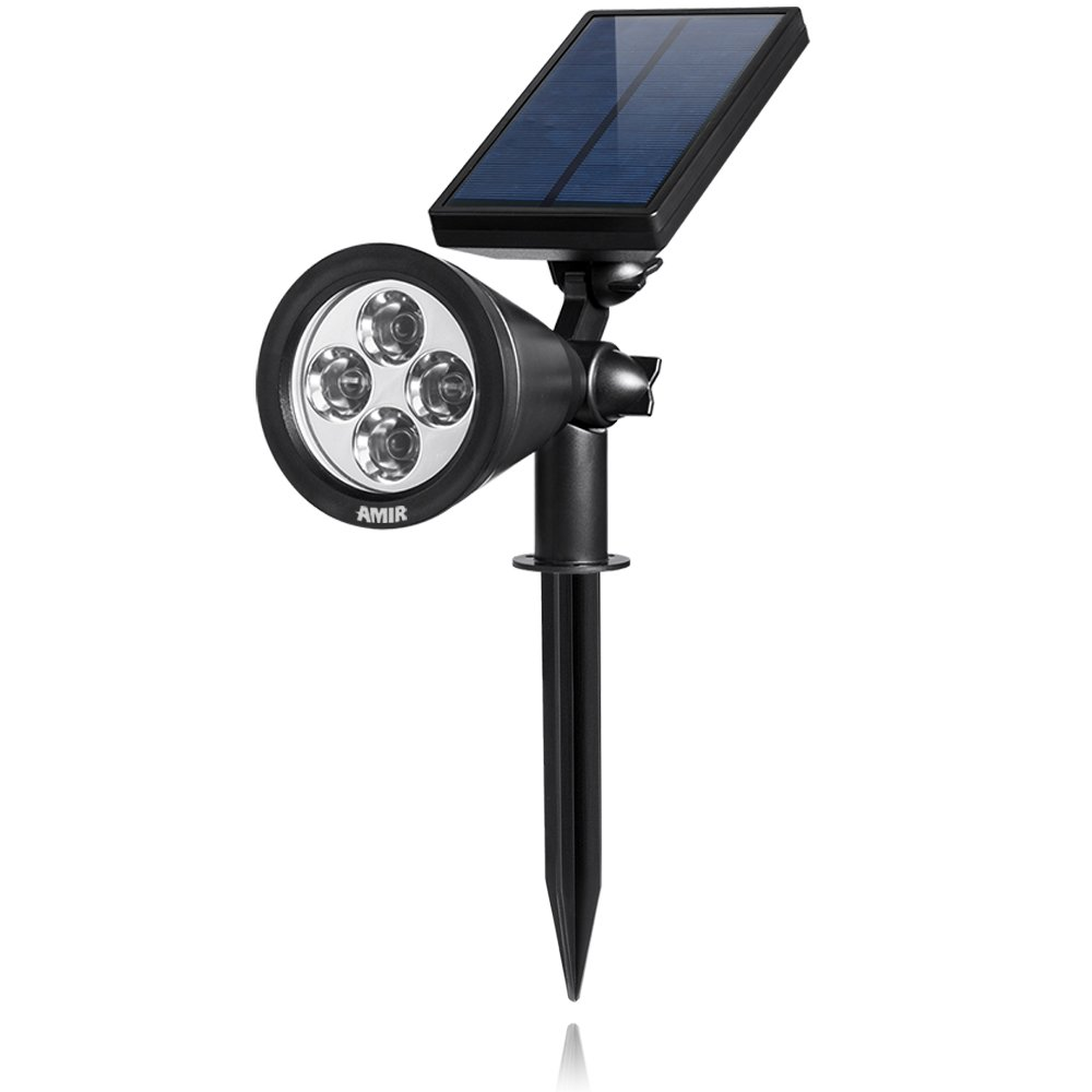 200 lumen output amir led solar spotlight solar powered for Led yard lights