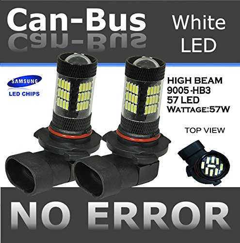 CANBUS LED 9005/HB3 42 SMD White High Beam Head Light Bulbs Free Shipping U.S. (1997 Chevy S10 Head Light compare prices)