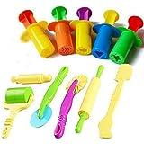 Clay Dough Tools Sets For Kids - 5 Pcs Dough Extruder Toy 6 Pcs Basic Dough Tool Set-Assorted 11Pcs