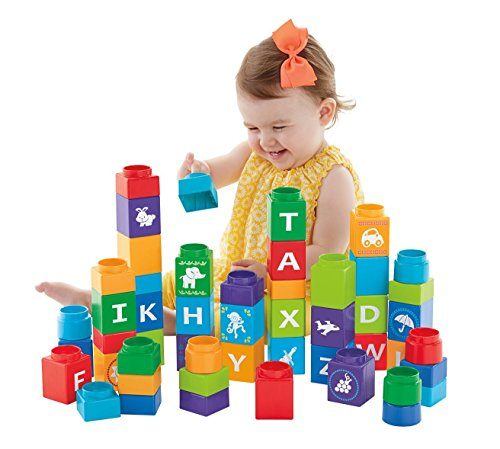 Fisher-Price First Steps Stack'n Learn Alphabet Blocks [Amazon Exclusive]