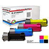 OBV 4 x kompatibler Toner für Dell 2150 / 2150 CN / 2150 CDN / 2155 / 2155 CN / 2155 CDN / Große Kapazität 2500 Seiten