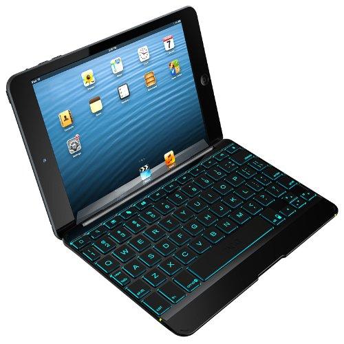 Zagg Cover Case With Backlit Bluetooth Keyboard For Apple Ipad Mini-Black (Zkmhcbklit103)