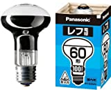 Panasonic レフ電球(屋内用) E26口金 100V60形 散光形(ビーム角=60°) RF100V54WD