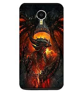 ColourCraft Flaming Dragon Design Back Case Cover for MEIZU M3 NOTE