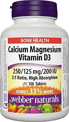 Webber Naturals Calcium Magnesium Citrates 2:1 Ratio with 200 IU Vitamin D Tablet