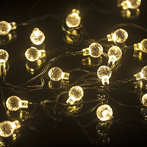 Sunniemart 20 LED Round Ball Globe String Lights Solar Powered Fairy Lights New eBay