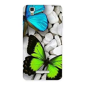 Premier Butterflies Multicolor Back Case Cover for Yu Yureka