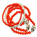Fashion Jewelry ~Red Stackable Stretch Skull Bracelet (DGB1451SOCOR RI) by Variety Gift Shop Online Store