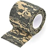 Freehawk® Self-adhesive Outdoor Military Camo Form Multi-functional Non-woven Camouflage Wrap Tape Waterproof Camo Stealth Tape Perfect for Hunting Gun, Knife Handles and Deck Out Your Paintball Airsoft Guns in Camouflage 3.5M