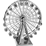 Electronictechcrafts® 3D DIY Model Toys Metal Stereoscopic Puzzle Stainless Steel (Ferris wheel)
