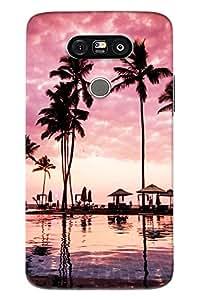 Blue Throat Beach Scene Printed Designer Back Cover/Case For LG G5