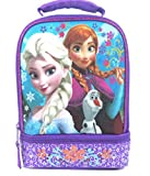 Disney Frozen Anna & Elsa New Lunch Bag - 2-pocket zipper close Design - 2014