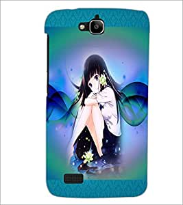 PrintDhaba Fantasy Girl D-5666 Back Case Cover for HUAWEI HONOR HOLLY (Multi-Coloured)