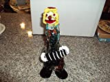 Murano Mid Century Multi Colored Clown 12 Inches Playing Accordian