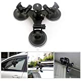 CEARI Car Windshield Triple Vacuum Suction Cup With Ball Head Tripod 1/4 Mount For Gopro HERO 3 3+ 4 Action Camera...