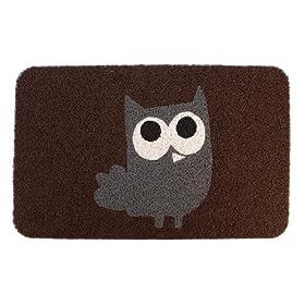 Kikkerland DM24 Owl Doormat, 30-Inch by 18-Inch