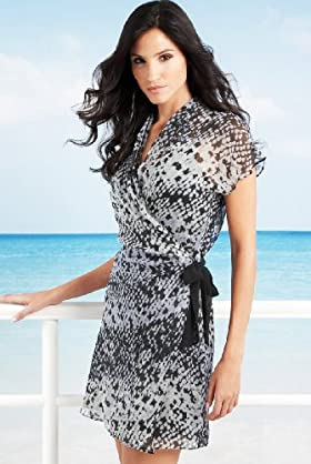 Autograph Pure Silk Snake Print Cover Up Dress - Marks & Spencer