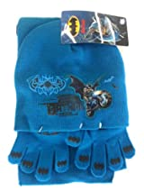 Batman Winter Wear 3pcs Set - Batman Gloves, Beanie & Scarf Set