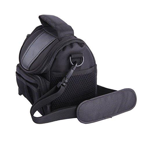 LXJ SMILEBlack Soft Nylon Digital Camera Case Bag Cover Pouch for Canon Powershot SX530 SX60 SX520 SX510 HS SX400 IS EOS Rebel Series DSLR kit (Canon Sx60 Hs Case compare prices)