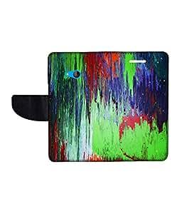 KolorEdge Printed Flip Cover For Microsoft Lumia 540 -Multicolor (50KeMLogo10486Lumia540)