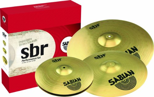 Sabian Sbr Performance Pack With 14-Inch Hat, 16-Inch Crash, And 20-Inch Ride Cymbals