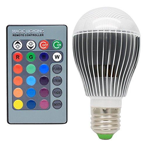 E27 5W Dimmbar RGB LED Farbwechsel Lampe Strahler Leuchtmittel Birnen Multicolor Glühbirne Glühlampe mit Fernbedienung ,16 Farben zur Wahl,120° Abstrahlwinkel