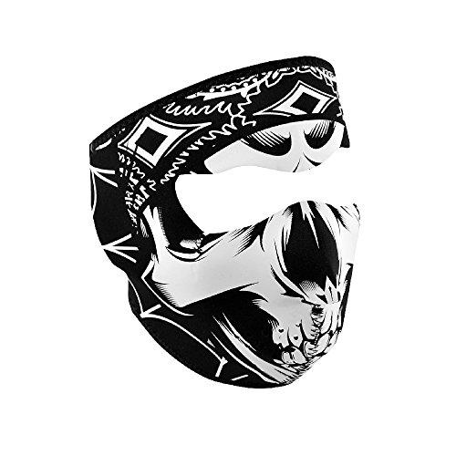 Zan Headgear WNFMLT06, Full Mask, Neoprene, Lethal Threat, Gangster Skull