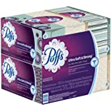 Puffs Ultra Soft & Strong Facial Tissues; 6 Family Boxes; 124 Tissues per Box