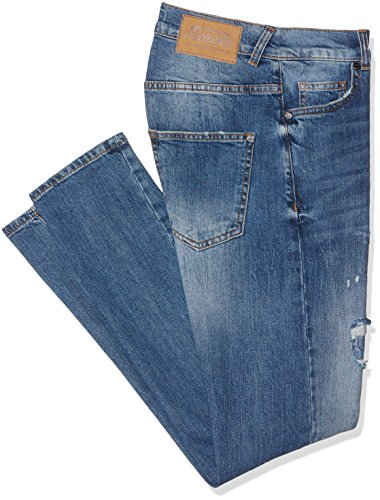 Frankie Morello Dunfermile, Jeans a Gamba Dritta Uomo, Blu (Blu Denim), 46 (Taglia Produttore:33)
