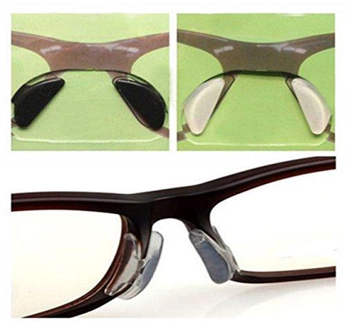 EWIN(R) 10pcs 2.5mm Eyeglass Sunglass Glasses Spectacles Anti-Slip Silicone Soft Stick on Nose Pads (Black)