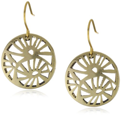 Kenneth Cole New York Gold-Tone Openwork Disk Earrings