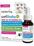 UpSpring: Wellbaby D, Vitamin D Drops for Baby, 20ml, 400 IU with Easy to Use Dropper