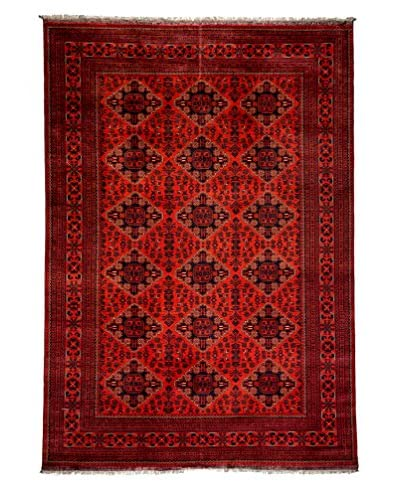 Darya Rugs Traditional Oriental Rug, Red, 9' 8 x 6' 7