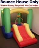 """Bounce House Only - My Bouncer Little Slide Castle Bounce 118"""" L x 78"""" W x 72"""" H Ball Pit Popper w/ Built-in Ball Hoop & Slide (BLOWER PUMP NOT INCLUDED)"""